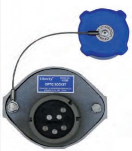 Розетка оптическая 6-ти контактная Civacon 4100E