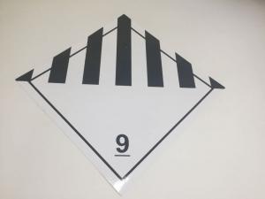 Наклейка (знак) Класс 9 Прочие опасные вещества и изделия, 300*300мм