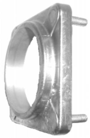 Фланец квадратный алюминиевый (140x140 мм) Tecnometal 10.01.74/ES