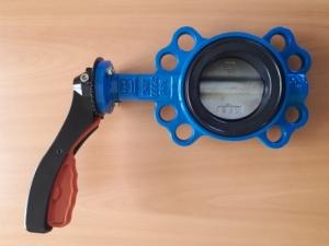 Затвор поворотный дисковый межфланцевый с рукояткой ПромАрм ПА 341.80.16-01