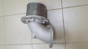Донный клапан с пневмоуправлением (без ручного дублирования) (круглый фланец) ПБА 692.00.00.00