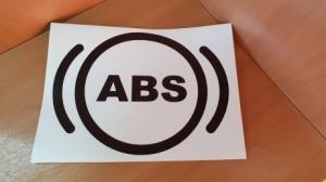 """Наклейка """"ABS установлено"""" 210х153мм"""