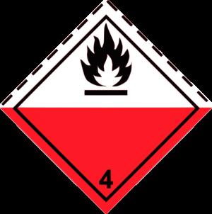 """Наклейка (знак) """"Класс 4.2"""" Вещества, способные к самовозгоранию, 300х300мм"""