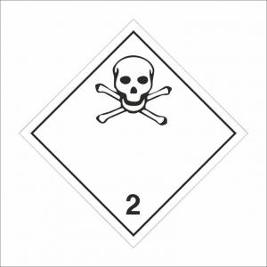 """Наклейка (знак) """"Класс 2.3 Токсичные газы"""" 300х300мм"""