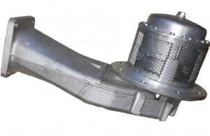 Донный клапан низкопрофильный с квадратным фланцем Sening BO100 F1