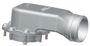 """Клапан пароотвода пневматический 3"""" для крышки инспекционного люка Tecnometal 44.00.00 E/S"""